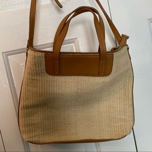 Old Navy Bags - Old Navy Faux Leather and Straw Crossbody Bag